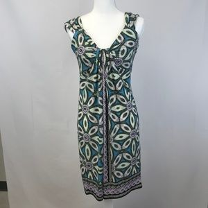 WOMEN'S SIZE 8 PATTERN LONDON TIMES MIDI DRESS